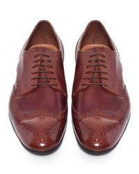 Paul Smith - Brown Leather Milton Brogues for Men - Lyst