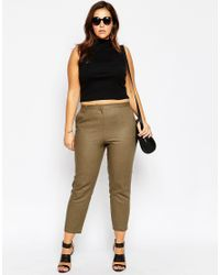 ASOS | Blue Linen Cigarette Trouser | Lyst