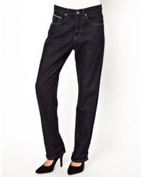 M.i.h Jeans | Blue The Halsy Jean In Raw Denim | Lyst