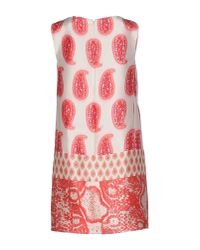 Giambattista Valli - Pink Short Dress - Lyst