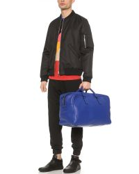 Marc By Marc Jacobs Blue Classic Leather Weekender for men