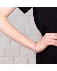 Maya Magal - Metallic Double Pearl Bracelet Silver - Lyst