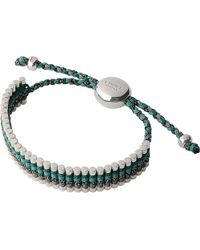 Links of London | Metallic Sterling Silver Friendship Bracelet In Green And Grey - For Women | Lyst