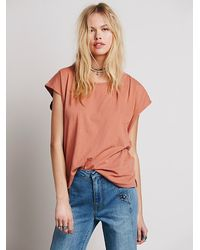 Free People | Pink Fp Beach Womens Birch Tree Tee | Lyst