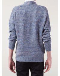 Inis Meáin Blue Men'S Donegal Crossover Sweater for men