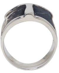 Pamela Love | Metallic Silver Cross Ring | Lyst