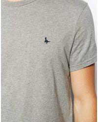 Jack Wills Gray Sandleford Tshirt with Pheasant Logo for men