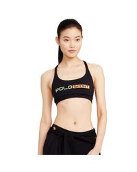 Polo Ralph Lauren - Black Crisscross-back Sports Bra - Lyst