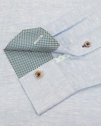 Ted Baker - Blue Farewel Classic Linen Blend Shirt for Men - Lyst