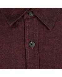 River Island Red Brushed Cotton Long Sleeve Shirt for men