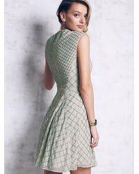 Free People - Green Circle Mesh Dress - Lyst
