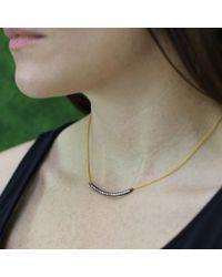 Yossi Harari Metallic Lilah Smile Diamond Necklace