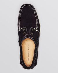 John Varvatos Blue Star Usa Schooner Perforated Suede Boat Shoes for men