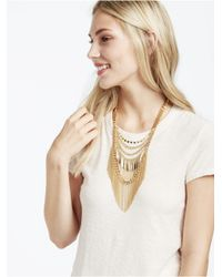 BaubleBar - Multicolor Gold Quill Chain Bib - Lyst