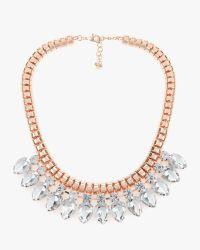 Ted Baker | Multicolor Teardrop Crystal Necklace | Lyst