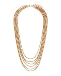 Forever 21 Metallic Layered Snake Chain Necklace