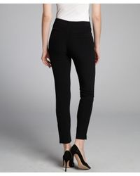 Alexander Wang - Black Stretch Cropped Tapered Ankle Zipped Trousers - Lyst