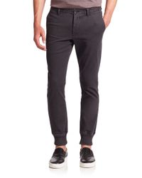 Michael Kors - Black Knit-cuff Trousers for Men - Lyst