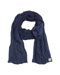 Polo Ralph Lauren - Blue Stonewashed Cotton Scarf for Men - Lyst