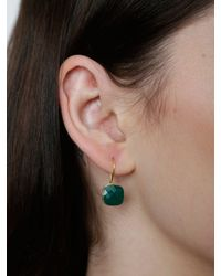 Juvi Designs - Green Gold Vermeil Egadi Faceted Square Earrings - Lyst