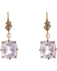 Cathy Waterman | Metallic Gemstone Drop Earrings | Lyst