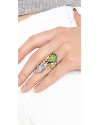 Alexis Bittar - Green Elongated Olmeca Ring Turquoise Multi - Lyst