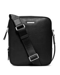 Michael Kors Black Warren Leather Small Flight Bag for men
