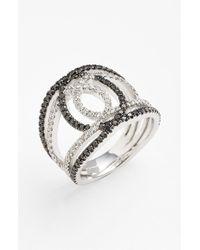 Bony Levy Black 'double Interlock' Diamond Cocktail Ring