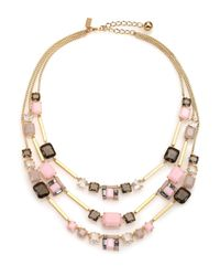 kate spade new york Metallic Neapolitan Cluster Triple-strand Necklace