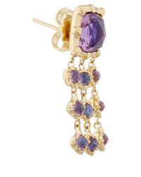 Larkspur & Hawk - Metallic Small Gold Purple Amethyst Bella Waterfall Earrings - Lyst