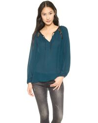 Ramy Brook Blue Cassie Blouse - Ivory