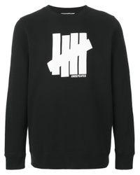 Undefeated - Black Logo Print Sweatshirt for Men - Lyst