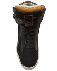 Alexander McQueen X Puma Black Joustesse Mid Wedge Sneakers