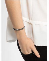 BaubleBar Metallic Mini Ice Cone Stud Stretch Bracelet-Silver
