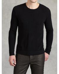 John Varvatos Black Ls Crewneck Sweater for men