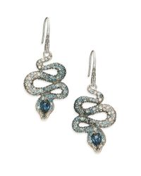 John Hardy | Blue Legends Cobra Semi-precious Multi-stone, Diamond & Sterling Silver Drop Earrings | Lyst