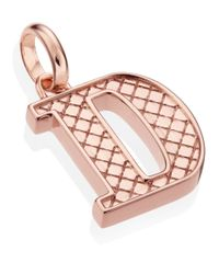 Monica Vinader - Pink Rose Gold-plated Alphabet Pendant D - Lyst