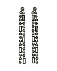 H&M | Black Long Earrings | Lyst