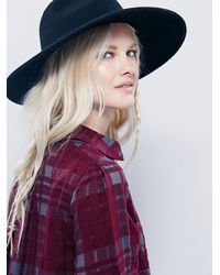 Free People | Purple Baby Blues Plaid Tunic | Lyst
