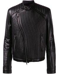 Les Hommes   Black Ribbed Jacket for Men   Lyst