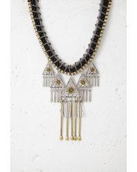 Forever 21 | Metallic Southwestern-inspired Statement Necklace | Lyst