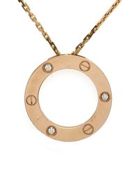 Cartier | Metallic Love 18ct Yellow-gold Necklace | Lyst