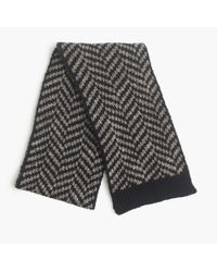 J.Crew - Blue Wide Chevron Scarf for Men - Lyst