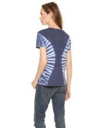 Raquel Allegra - Short Sleeve Perfect Tee - Tie Dye Blue - Lyst