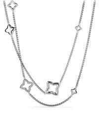 David Yurman Metallic Quatrefoil Chain Necklace