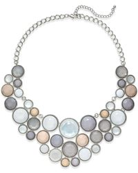 INC International Concepts | Metallic Silver-tone Circle Bib Statement Necklace | Lyst
