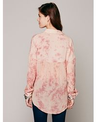 Free People | Pink Cloud Wash Buttondown | Lyst