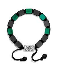 David Yurman Black Spiritual Beads Tile Bracelet With Malachite for men