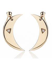 Alexa Leigh | Metallic Moon Earring | Lyst