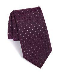 BOSS - Purple Dot Silk Tie for Men - Lyst
